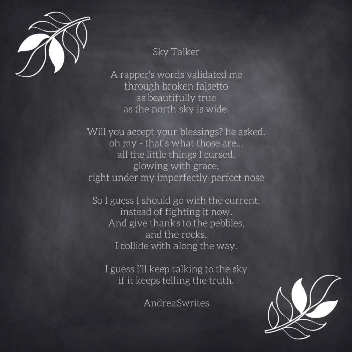 sky talker new poetry