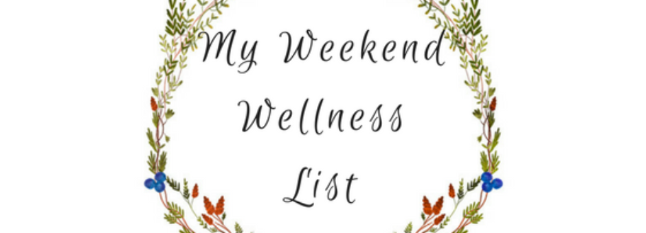 my weekend wellness list - must love crows